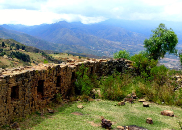 Incan ruins of Incarakay, a pre-Columbian agricultural administrative center, perched atop the fertile Cochabamba Valley