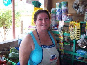 Gloria in her store. Rivas, Nicaragua