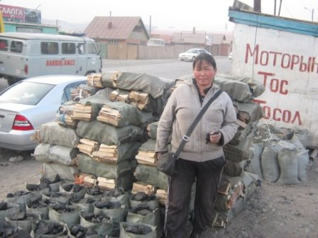 Roadside fuel vendor in ger district - Ulaanbaatar, Mongolia