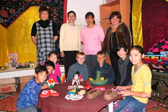 A Kiva entrepreneur in Kyrgyzstan who has also created a Center of Temporary Stay for Orphaned Children using her own funds and resources. Click to learn more.