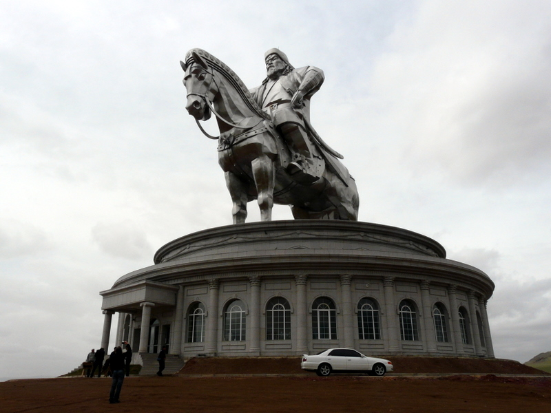 Genghis Khan statue about 30 minutes outside of Ulaanbaatar