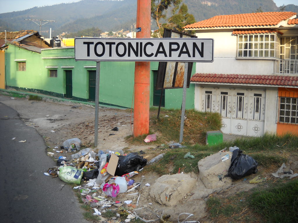 Totonicapan Trash Sign