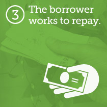 The borrower repays the loan